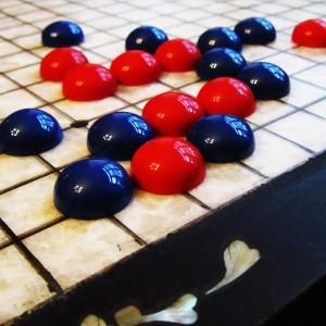 Комплект Го с Синими камнями